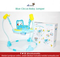 JUAL BELI BABY JUMPER LABEILLE CIRCUS BLUE BABY JUMPEROO