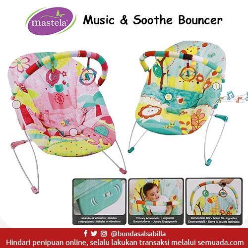 JUAL BELI BABY BOUNCER MASTELA MUSIC N SOOTHE BOUNCER