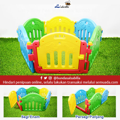 JUAL BELI PAGAR MAIN BAYI LABEILLE BABY PLAY PEN KC002 PG-1 WITH DOOR